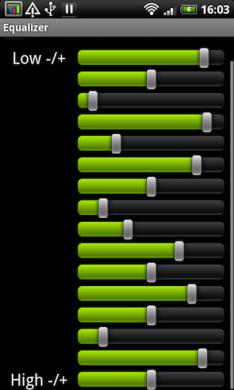 Astro Player Beta: イコライザで音質を自分好みに変えて楽しみましょう。
