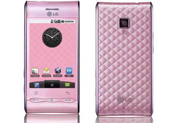 カラーバリエーションのうち、ピンクは女性向けにアピールしたデザインとなっている
