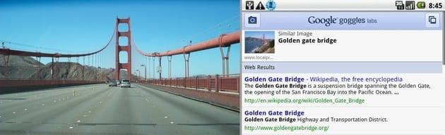 図18.Google Goggles ネットにない写真も検索