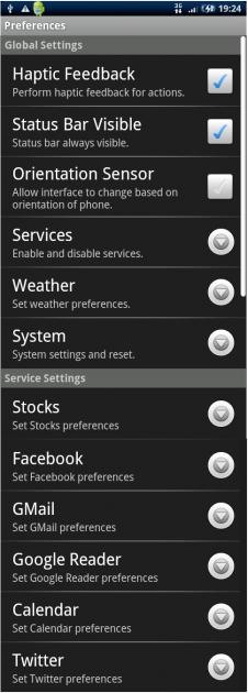 SlideScreen: 設定画面