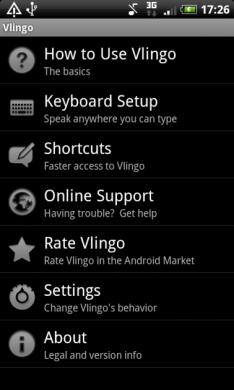 図6 Vlingo: Words to Action このアプリの情報