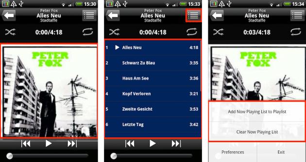 bTunes Music Player 1.6: 直感的に操作が行えるデザインです。