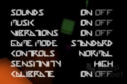 Speedx 3D: OPTIONS画面