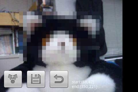 Touch2Pixel:モザイクをかけたとき