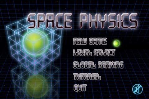 Space Physics:起動画面