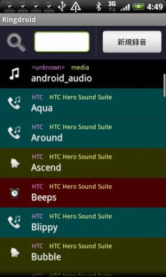 Ringdroid (着信音メーカー): 各種音源を利用してオリジナル着信音作成。