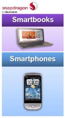 スマートブックやスマートフォンに内蔵されている「Snapdragon」