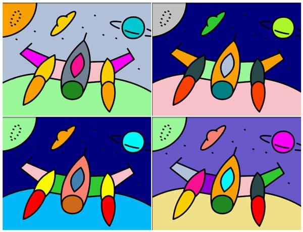 Zebra Paint:同じぬりえでも色の組み合わせで次第でイメージは様々