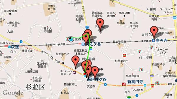 TravelCamerAR -トラベルカメラ-:現在地から黄緑色のラインマーカーが表示され、目的地へ行くのも楽々です