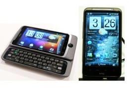 HTC新製品「HTC Desire Z」(左)と「HTC Desire HD」(右)