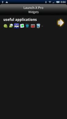 Launch-X Pro: ウィジェットにつけた名前と共に選択したアプリも表示されます