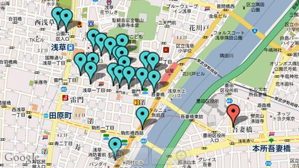 TravelCamerAR -トラベルカメラ-:『TC Prein 浅草マップ』に登録されているアイコン