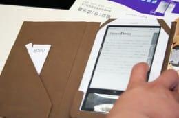 日本Androidの会 9月定例イベント開催。写真は講演者が持参した電子書籍デバイス