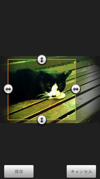 自動壁紙せっちゃん:普通に撮影した画像を設定すると、トリミングをする必要があります