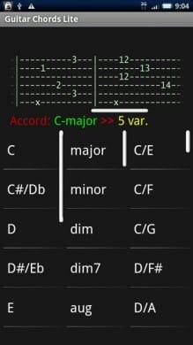 Guitar Chords Lite:いつでもどこでもギターコードを確認!