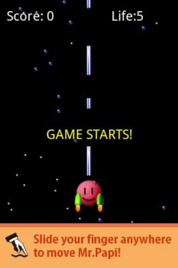 PapiOrange:ゲーム起動画面