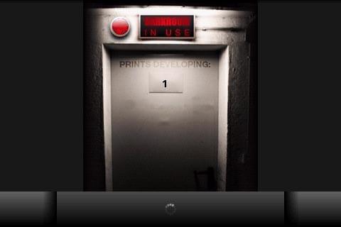 Retro Camera:現像中の画面