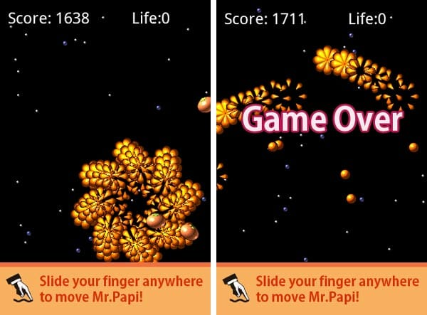 PapiOrange:ゲームオーバー