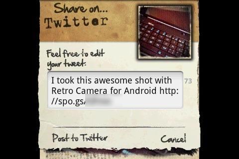 Retro Camera:Twitter投稿の様子