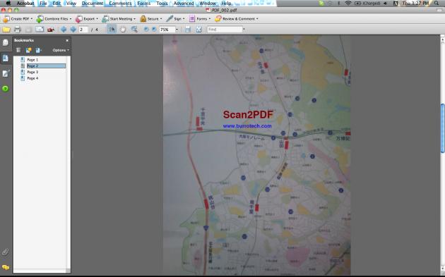 Scan2PDF Mobile Lite: メールで送ったPDFをパソコンから確認した様子