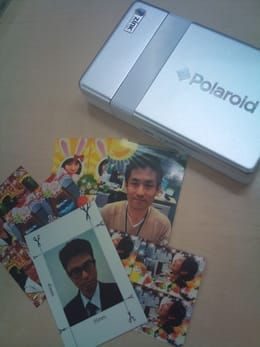 Polaroid PoGo App:POGOを使って、その場でプリント