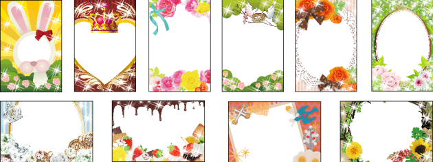 Polaroid PoGo App:デコレーションフレーム例