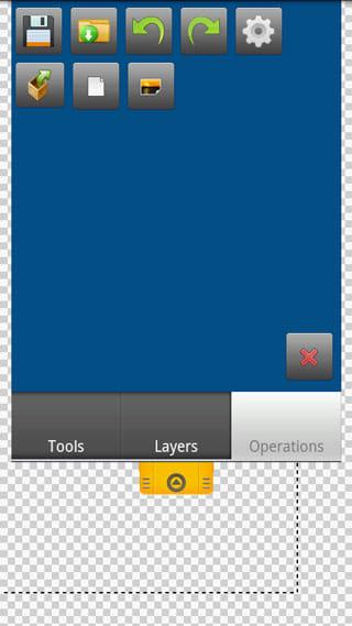 Canvas Pro:Operationsタブメニュー画面