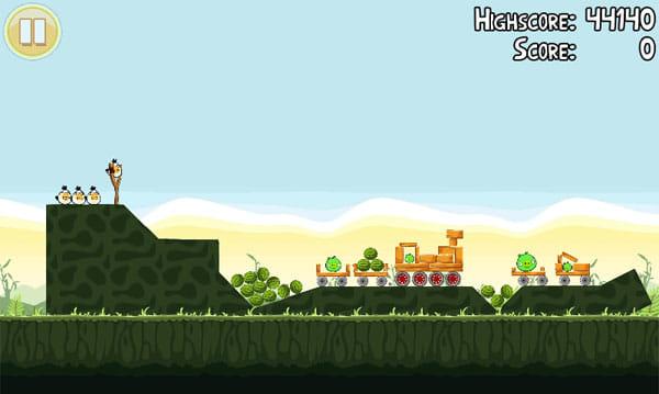 Angry Birds:画面を縮小して、ステージ全体を確認するようにする