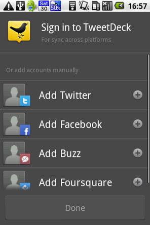 TweetDeck (Twitter, Facebook):Twitter、Facebook、GoogleBuzz、foursquareをまとめて管理