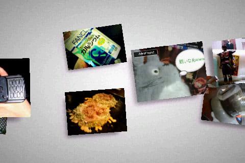 Floating Image:次々にお気に入りの画像が流れてきます