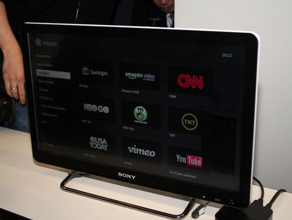 各種サービスの並ぶGoogle TVホーム画面
