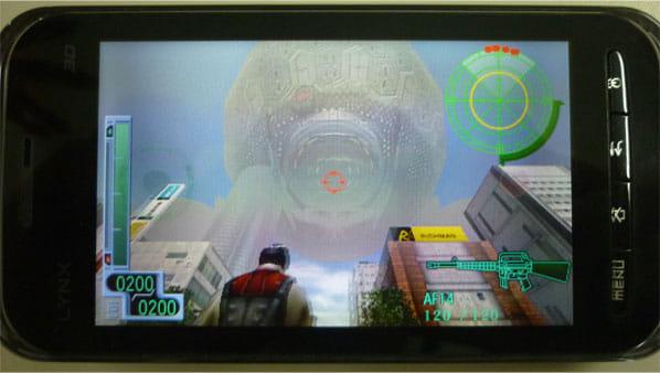 プリインストールされている3Dアクションシューティングゲーム「地球防衛軍3」