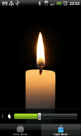 Happy Candle:炎を眺めてリラックスできるライトモード