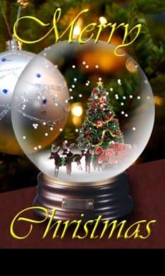 Christmas Snow Globe 2.0:端末を振ると雪が降ってきます