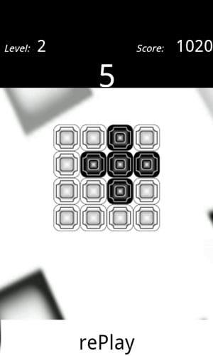 Flip challenge:クリア目前の石の配置