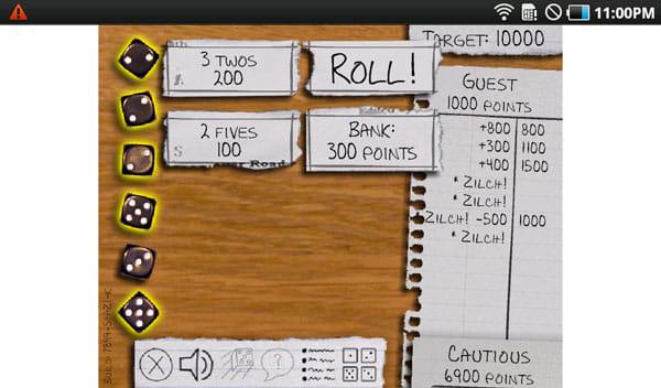 Kongregate Arcade:6つのサイコロを転がして役を作る「Zilch Mobile」