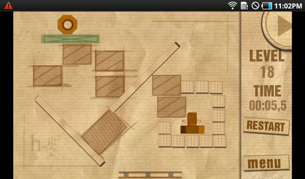 Kongregate Arcade:ボルトをナットまで運ぶパズルゲーム「Screw the Nut Mobile」