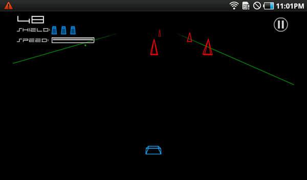 Kongregate Arcade:ひたすら障害物を避けていく「Vector Runner Mobile」