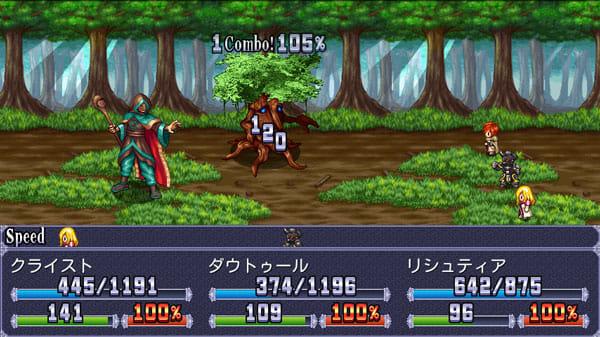 RPGシンフォニーオブエタニティ:連携攻撃がヒットすると、コンボボーナスでダメージがアップ!