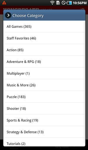 Kongregate Arcade:ジャンルや評価別でゲームを探せる