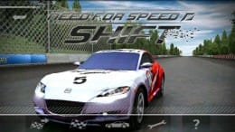 NEED FOR SPEED™  Shift:メイン画面