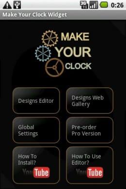 Make Your Clock Widget Beta:メイン画面