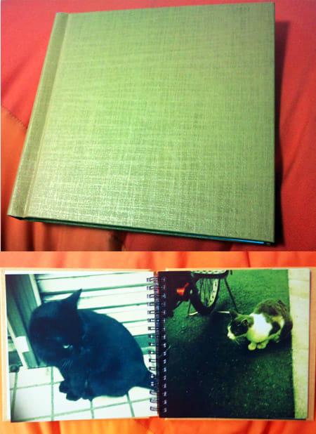 500円フォトブック:立派なハードカバー(上)に、上質なプリント(下)で大満足