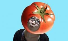 TAM顔ハメ:トマトになりました。顔もトマト顔です