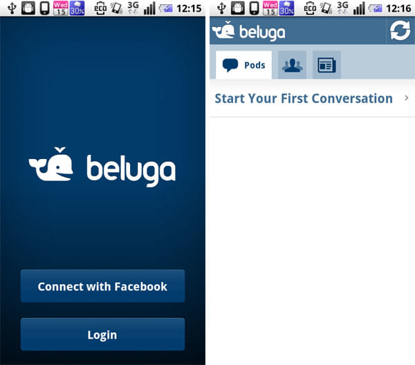 Beluga:Facebookとの連携スタート
