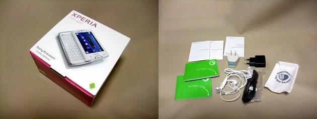 箱はコンパクト。充電器なども非常にコンパクトになっている。ちなみにXperia acroと同型番(USBケーブルはコネクタの向きが違う)