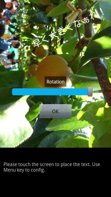 Little Photo:「Text」と画像回転
