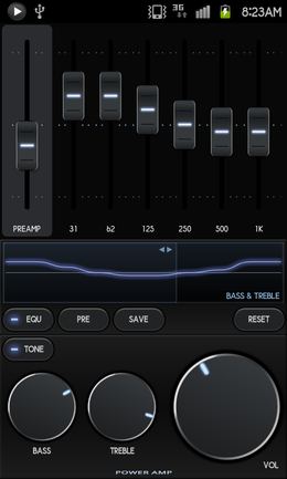 Poweramp:楽曲や好みに合わせて音質を細かく設定