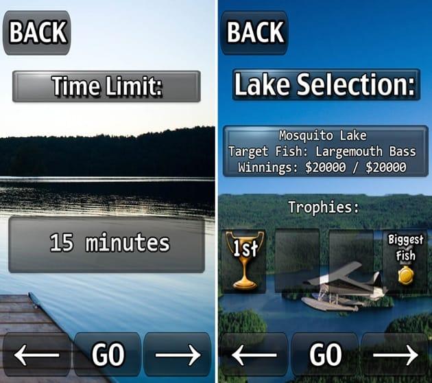 i Fishing:コンピュータ相手に勝負する「Tournament」モード