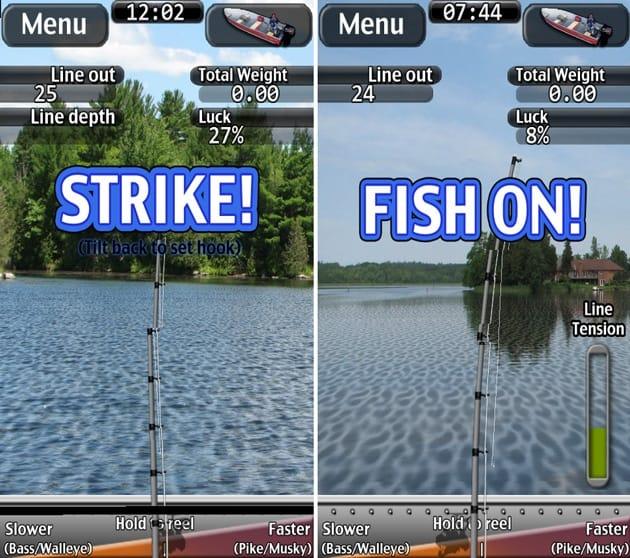 i Fishing:「STRIKE!」でチャンス到来、「FISH ON!」でアタリ